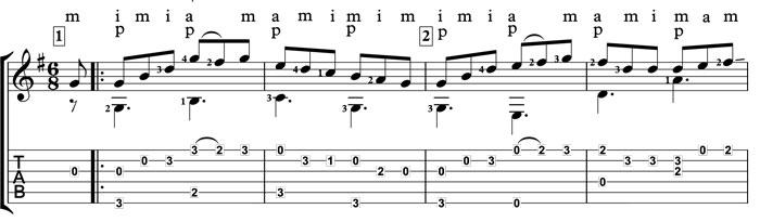 paddy whack irish jig classical guitar
