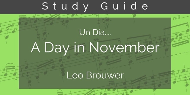 Brouwer guitar study guide