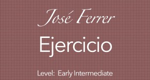ferrer ejercicio for classical guitar