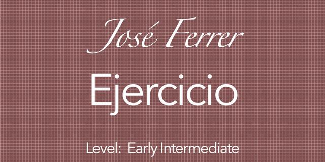ferrer ejercicio for classical guitar