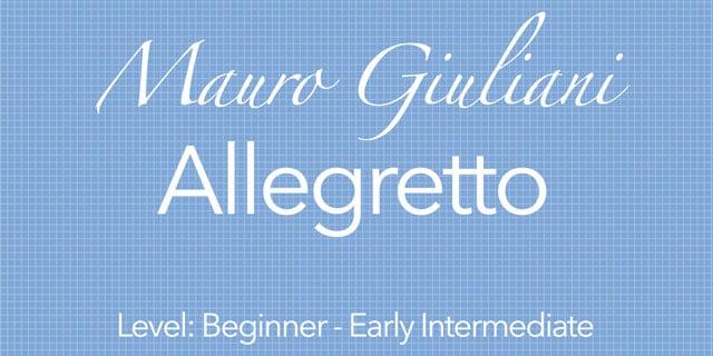 giuliani allegretto classical guitar music